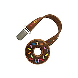 Silli Chews Chocolate Donut Teether™ with Strap