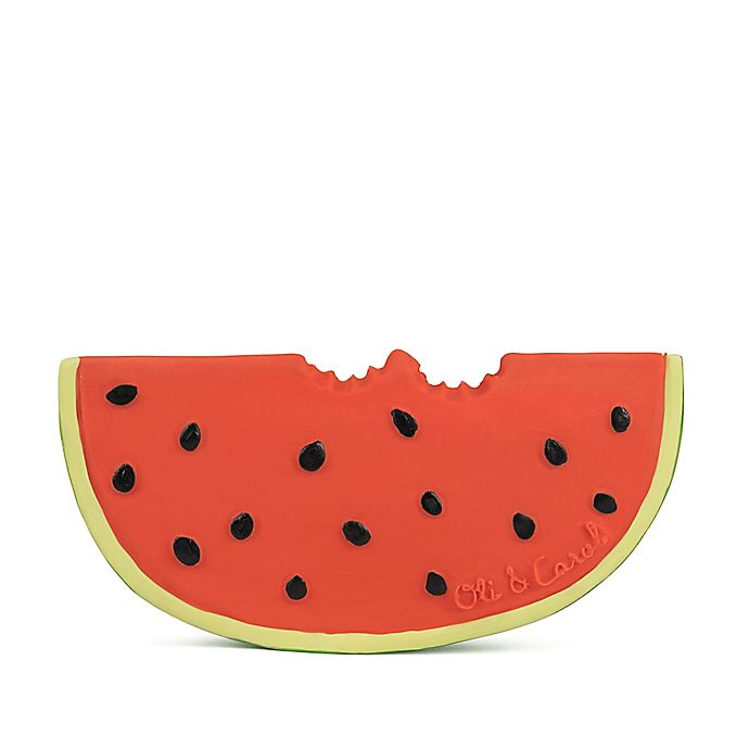 Alternate image 1 for Oli & Carol™ Wally the Watermelon Teether in Red
