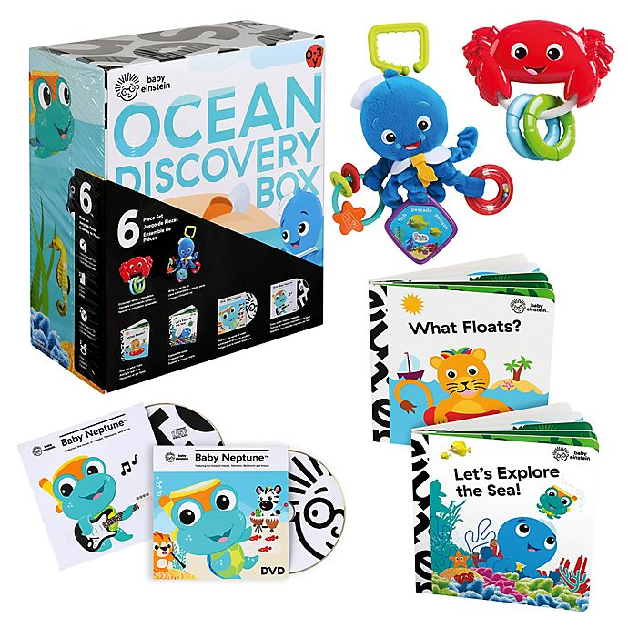 Alternate image 1 for Baby Einstein™ 6-Piece Ocean Discovery Box™ Set