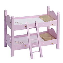 Olivia's Little World Doll Double Bunk Bed in Pink Star