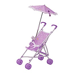 Olivia's Little World Doll Stroller with Parasol in Purple
