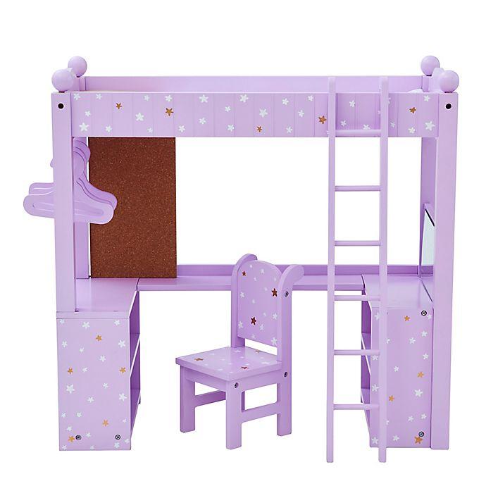Alternate image 1 for Olivia's Little World Twinkle Stars Princess Doll College Dorm Bed