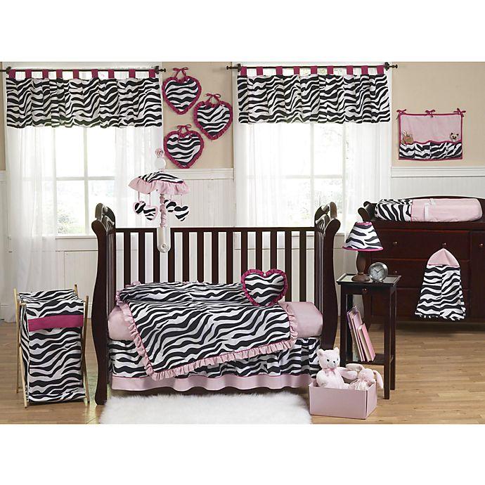 Alternate image 1 for Sweet Jojo Designs Funky Zebra Crib Bedding Collection in Pink