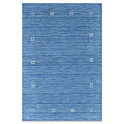 ECARPETGALLERY Luribaft Gabbeh Riz 4' x 5'11 Hand Knotted Area Rug in Sky Blue