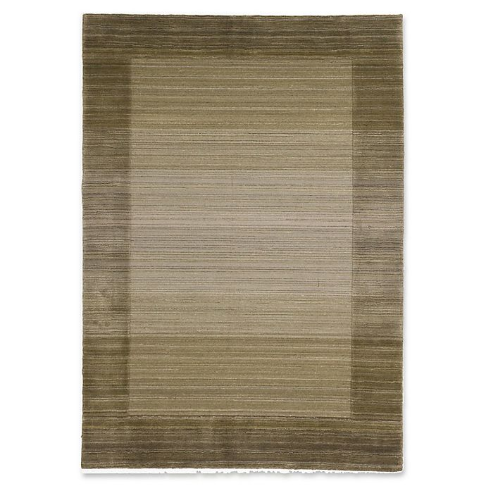 Alternate image 1 for ECARPETGALLERY One of a Kind Luribaft Gabbeh Riz 5'7 x 7'10 Hand-Knotted Rug in Khaki