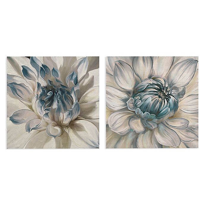 Alternate image 1 for Masterpiece Art Gallery Daytime Dahlia I & II Canvas Wall Art
