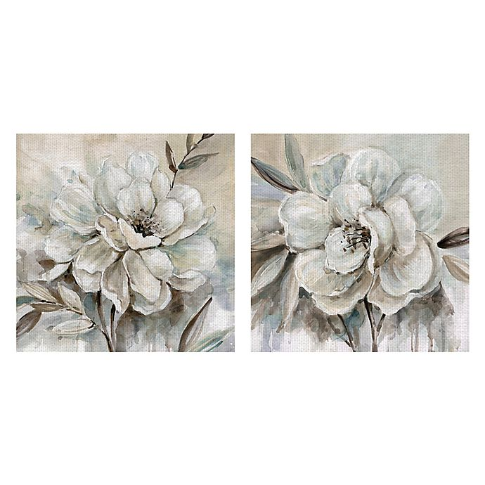 Alternate image 1 for Masterpiece Art Gallery 2-Piece Neutral Bloom I & II Square Canvas Wall Art