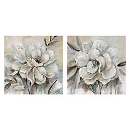 Masterpiece Art Gallery 2-Piece Neutral Bloom I & II 16-Inch Square Canvas Wall Art