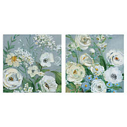 Painterly Garden I & II Wrapped Canvas Wall Art (Set of 2)