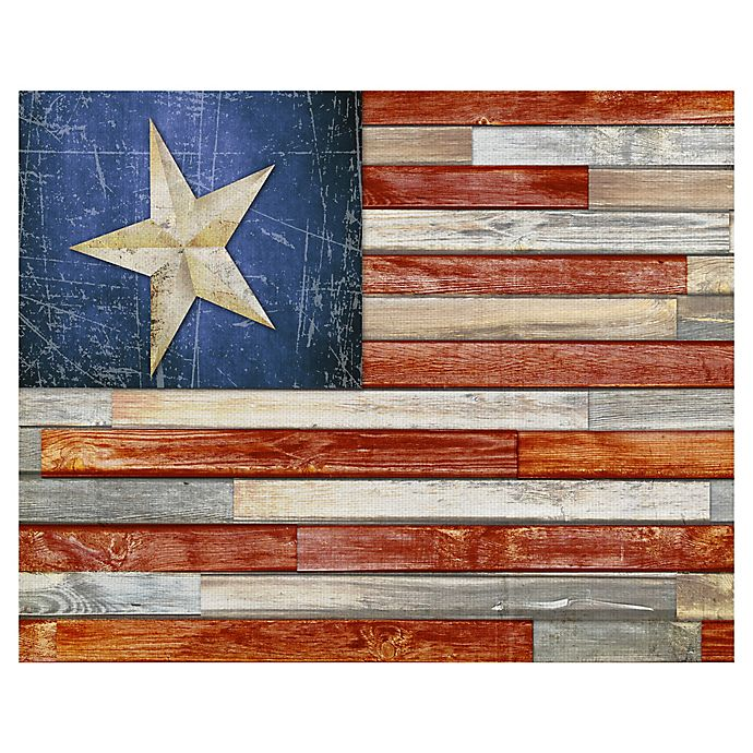 Alternate image 1 for Masterpiece Art Gallery Wooden Flag 22-Inch x 28-Inch Canvas Wall Art