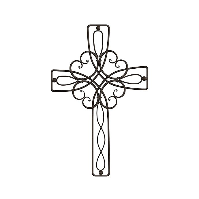Alternate image 1 for 11.5-Inch x 17.8-Inch Metal Cross Wall Art