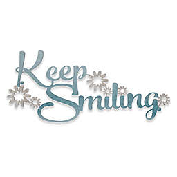 """21.75-Inch x 10-Inch """"Keep Smiling"""" Iron Wall Art"""