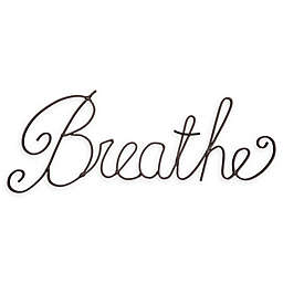 Breathe 3D Metal Word Wall Art