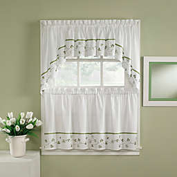 Clover 24-Inch Window Curtain Tiers