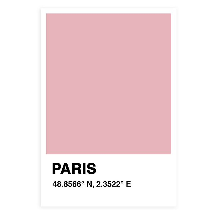 Alternate image 1 for 13-Inch x 19-Inch Paris Color Swatch Print Wall Art in Pink