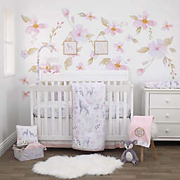 NoJo® Watercolor Deer 4-Piece Crib Bedding Set in Pink