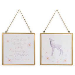 NoJo® Watercolor Deer 8-Inch Square Framed Wall Art (Set of 2)