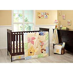 Disney® Peeking Pooh 7-Piece Crib Bedding Set in Yellow