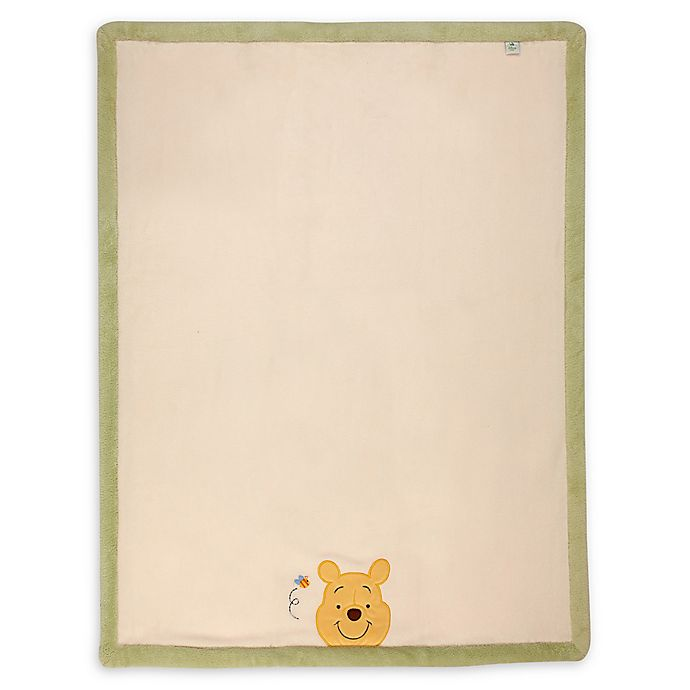 Alternate image 1 for Disney® Peeking Pooh Baby Blanket in Ivory