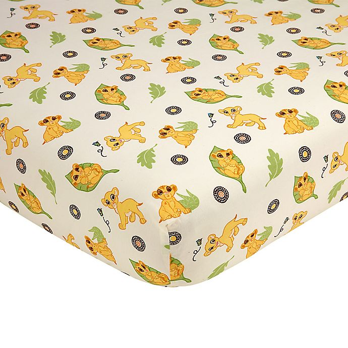 Alternate image 1 for Disney® Lion King's Wild Adventure Fitted Crib Sheet in Ivory