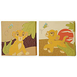 Disney® Lion King's Wild Adventure 12-Inch Square Canvas Wall Art (Set of 2)