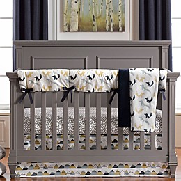 Liz and Roo Fox Den 3-Piece Crib Bedding Set in Blue