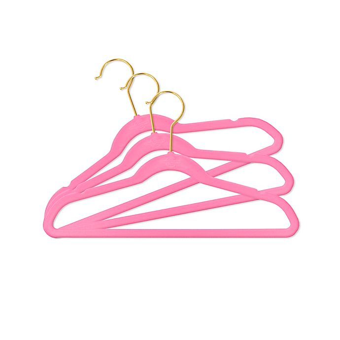 Alternate image 1 for Closet Complete 25-Pack Kids Velvet Clothing Hangers in Pink
