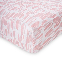 aden by aden + anais® Washed Heart Fitted Crib Sheet in Pink