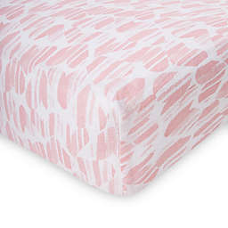 aden + anais™ essentials Washed Heart Fitted Crib Sheet in Pink