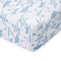 aden® by aden + anais® Retro Fitted Crib Sheet in Blue