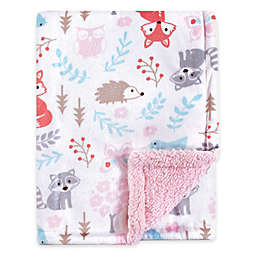Hudson Baby® Woodland Security Blanket in Pink