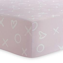 Kushies® XO Print Changing Pad Cover in Grey