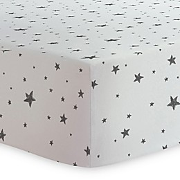 Kushies® Star Print Changing Pad Cover in Black/White