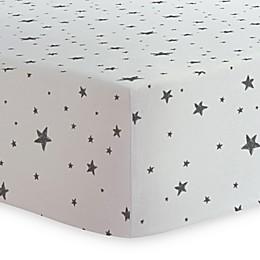 Kushies® Crib Sheet in Black/White
