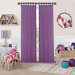 Greta Crushed Sheer Tie Top Window Curtain Panels