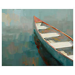 Materpiece Art Gallery Coral Canoe-I Canvas Wall Art