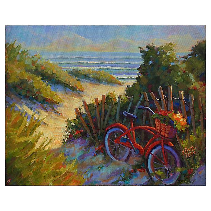 Alternate image 1 for Masterpiece Art Gallery Kathleen Denis Beach Bicycle 22\