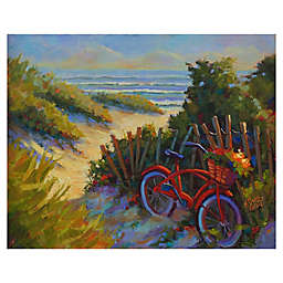 Masterpiece Art Gallery Kathleen Denis Beach Bicycle Canvas Wall Art