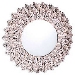 TOV Furniture Distressed Pile Mirror in Pink