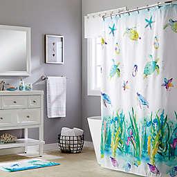 Watercolor Ocean Shower Curtain