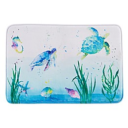 Watercolor Ocean Bath Rug Collection