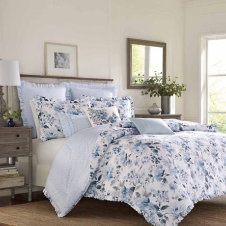 laura ashley chloe bedding collection bed bath beyond. Black Bedroom Furniture Sets. Home Design Ideas