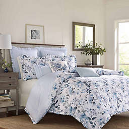 Laura Ashley® Chloe Reversible 3-Piece King Duvet Cover Set in Blue