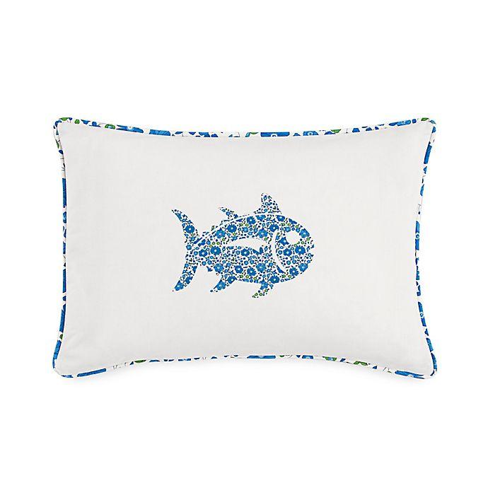 Alternate image 1 for Southern Tide® Laurel Falls Skipjack Throw Pillow in White
