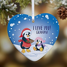 Precious Moments® Penguin Glossy Christmas Ornament in Blue