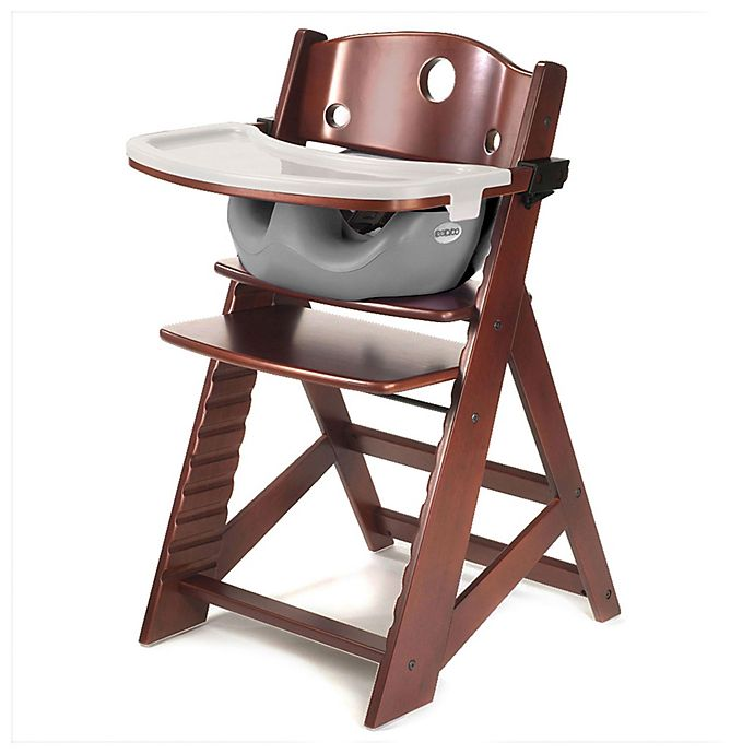 Alternate image 1 for Keekaroo® Height Right High Chair Mahogany with Infant Insert and Tray