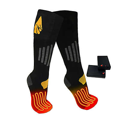 ActionHeat™ Unisex Battery Heated Socks in Black/Yellow