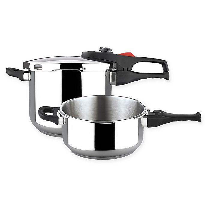 Alternate image 1 for Magefesa® Practika Plus 3-Piece Stainless Steel Pressure Cooker Set