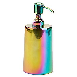 Mind Reader Iridescent Soap and Lotion Dispenser in Rainbow