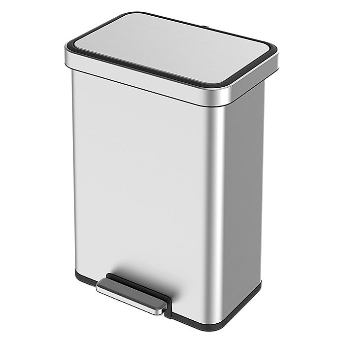 Alternate image 1 for EKO® Cozy Stainless Steel 45-Liter Step Trash Can